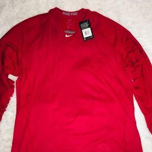 Nike Dri Fit Pro Red Long Sleeve Men's Shirt XXL
